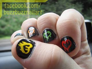 Dripping Heart Nail Art