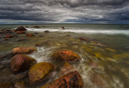 autumn light sea sky cloud seascape storm blur detail green beach nature water colors rain rock horizontal stone set clouds landscape flow outdoors photography evening coast marine rocks colorful europe soft exposure estonia day waves view outdoor wave atmosphere baltic clear shore land nordic scape andrei reinol andreireinol