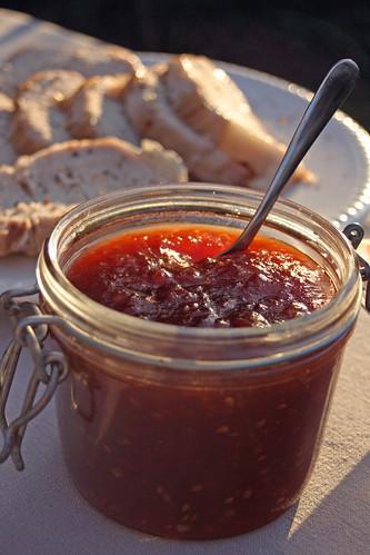 Confiture de tomates aux piments