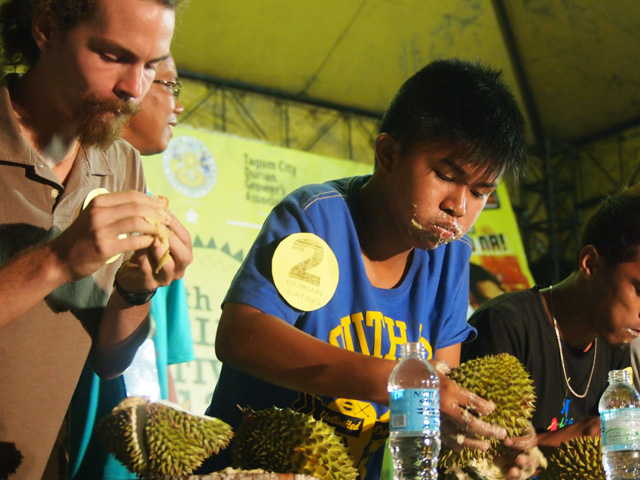 Durian feasting competition