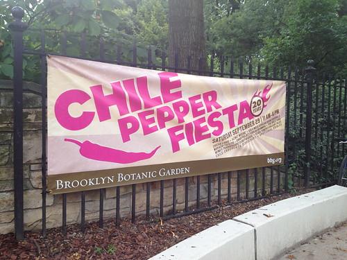 ブルックリンの植物園では、チリペッパーフェスタが開催されるらしい。