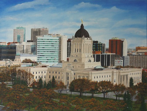 Winnipeg skyline by Sid's art
