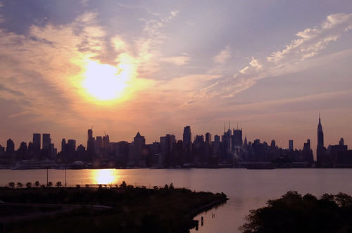 Sunrise on the NY skyline....
