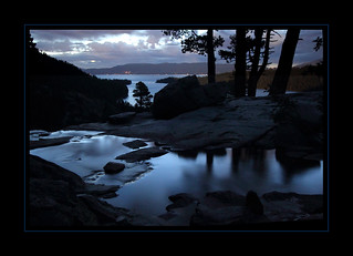 Eagle Creek and Lake Tahoe at Dawn