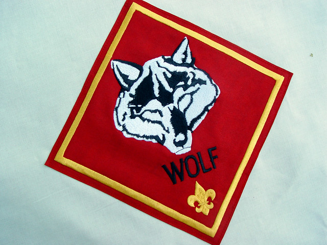 wolf flag patch