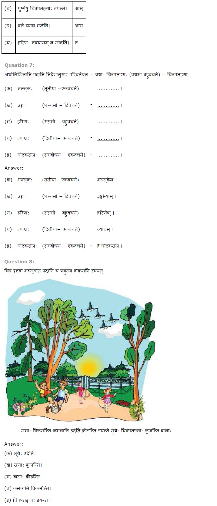 NCERT Solutions For Class 7th Sanskrit Chapter 15 लालनगीतम PDF Download