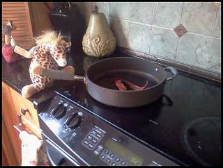 gif. cooking bacon