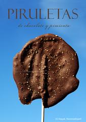 Piruletas de chocolate y pimienta