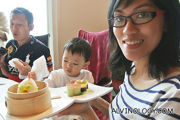 Rachel and Asher were both very satisfied with our lunch