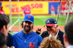 R.A. Dickey and Phil Niekro