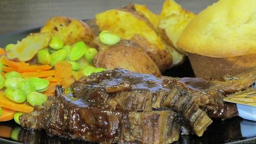 BBQ brisket dinner by Coyoty