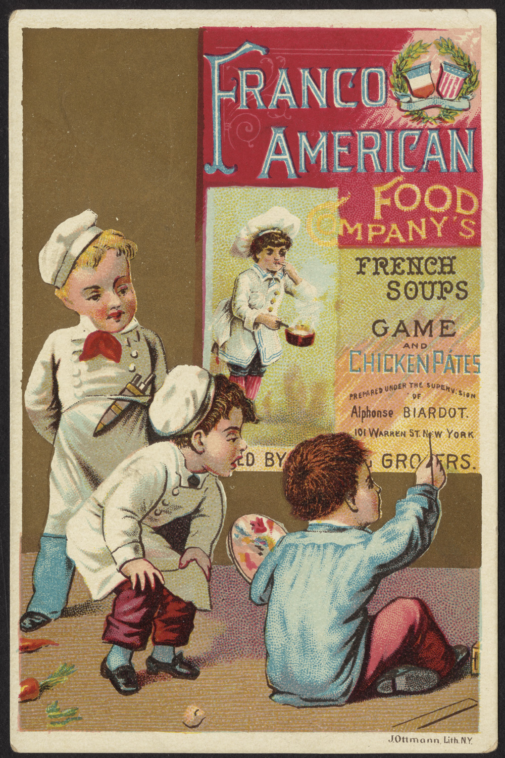 Franco american food company 39 s french soups game and chic for American cuisine boston