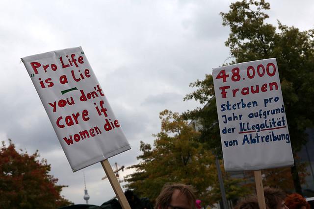 Berlin 22.09.2012 Abtreibung pro und contra  IMG_9919