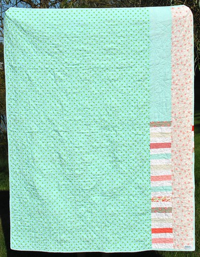 Woven Ruby Quilt - back