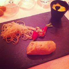 Ballottine de saumon sauvage, sauce hollandaise, salade de radis rose et radis longs