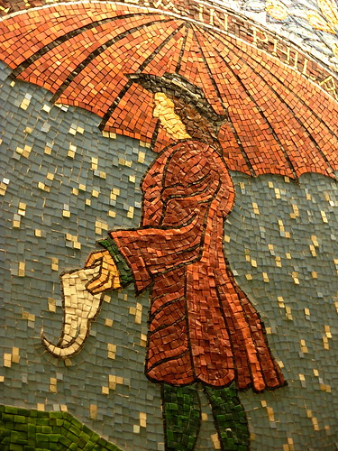 Joyce Kozloff Mosaic of William Penn in Suburban Station, Philadelphia.