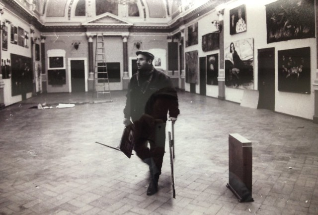1987-1989 Photo of Mamuka Tsetskhladze by Guram Tsibakhashvili