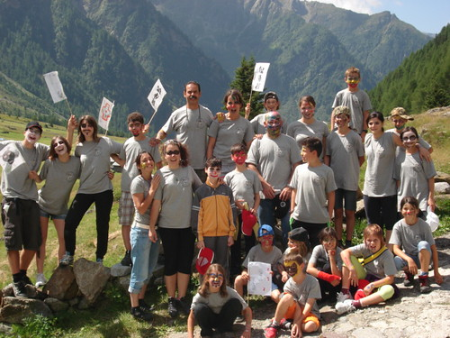 Gruppo Karate Valposchiavo in Val di Rezzalo