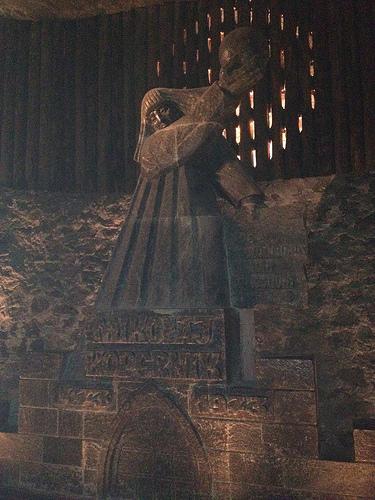 Copernicus Statue, salt mine, Poland