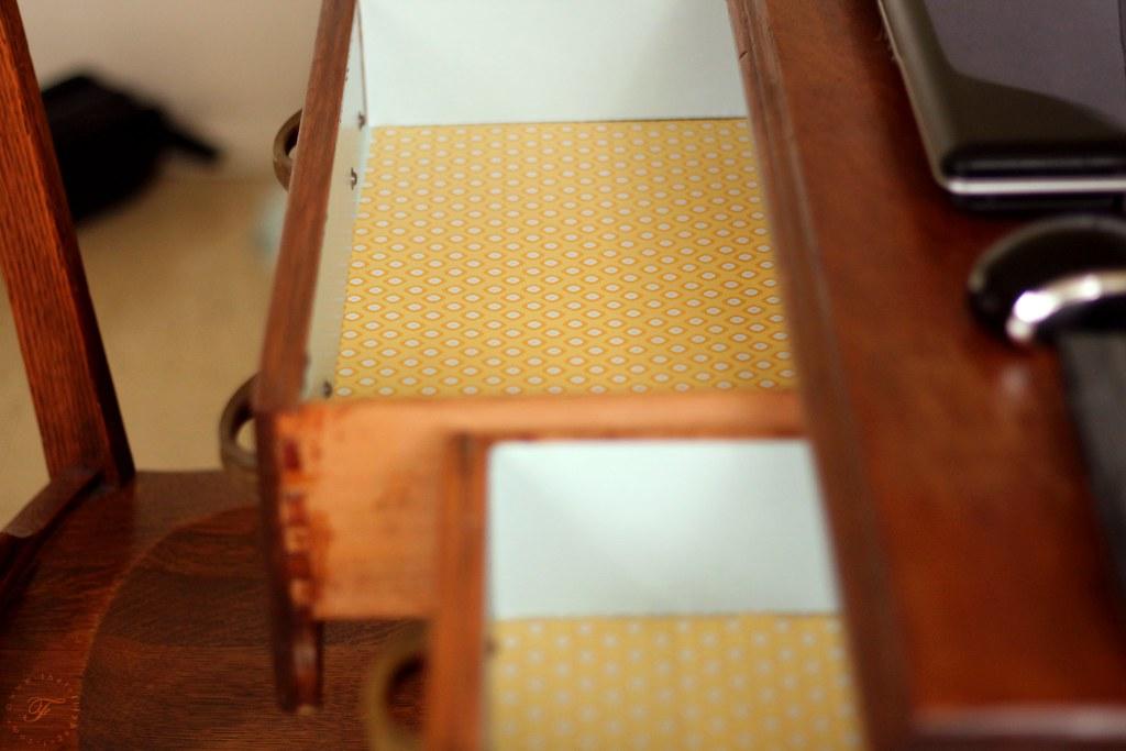 Inside of Drawer: After