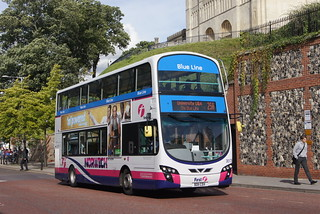 New First Norwich colour coded network (c) David Bell