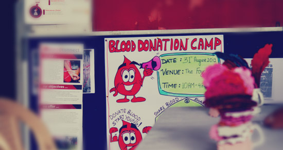 Value based learnings like donating blood