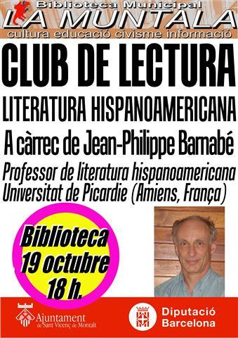 Club de lectura hispanoamericana @ 19 octubre 18 h. by bibliotecalamuntala