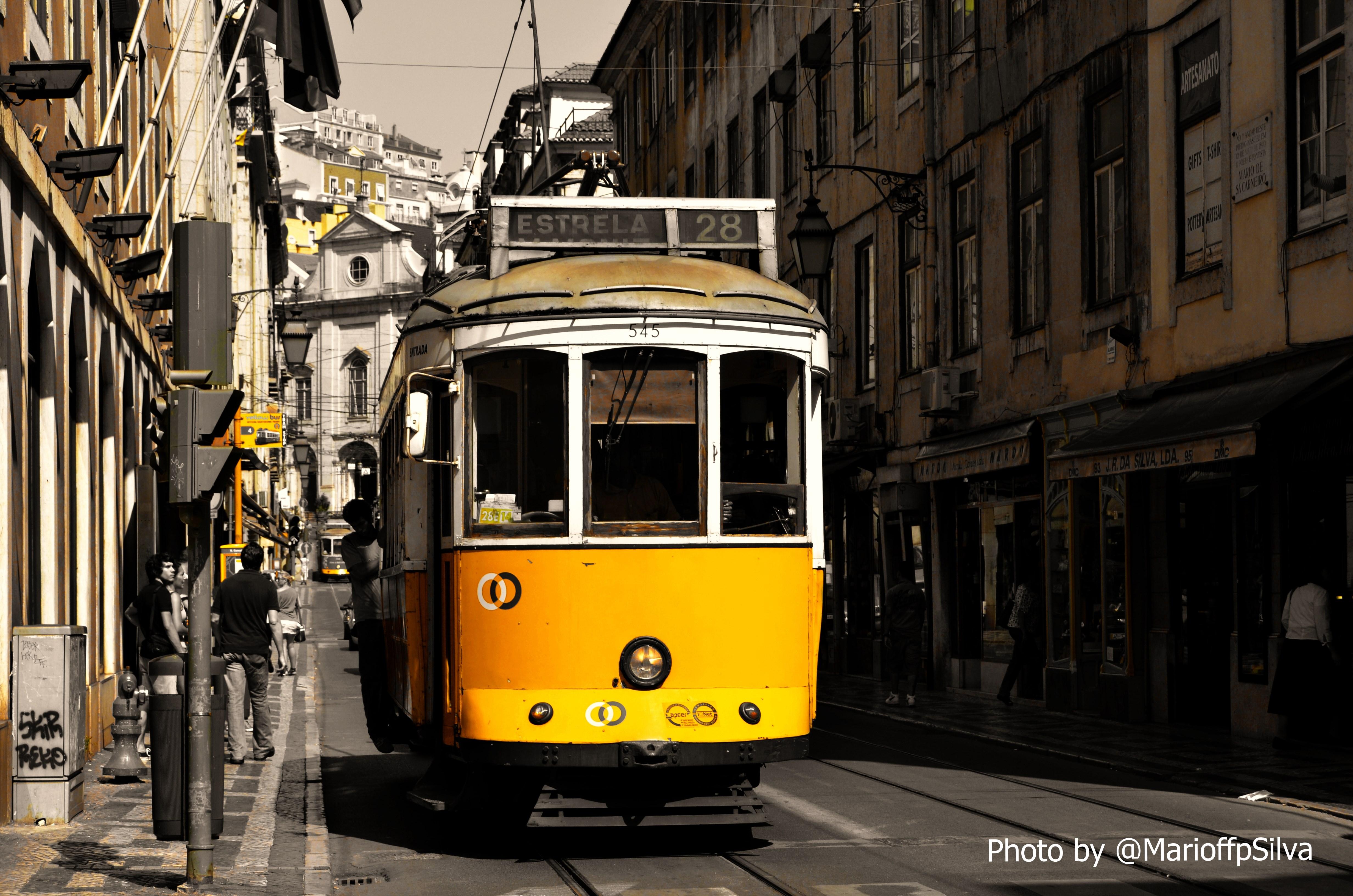 Eléctrico nas ruas de Lisboa