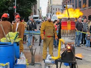 Dumbo Arts Festival 2012: Sculptors Guild, Molten Iron Spectacular