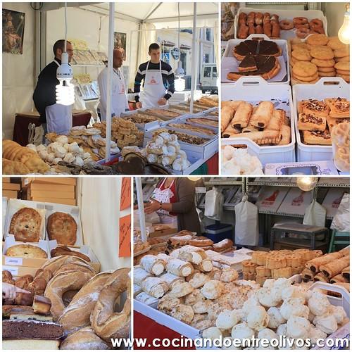 Torta de la Virgen , puestos de dulces