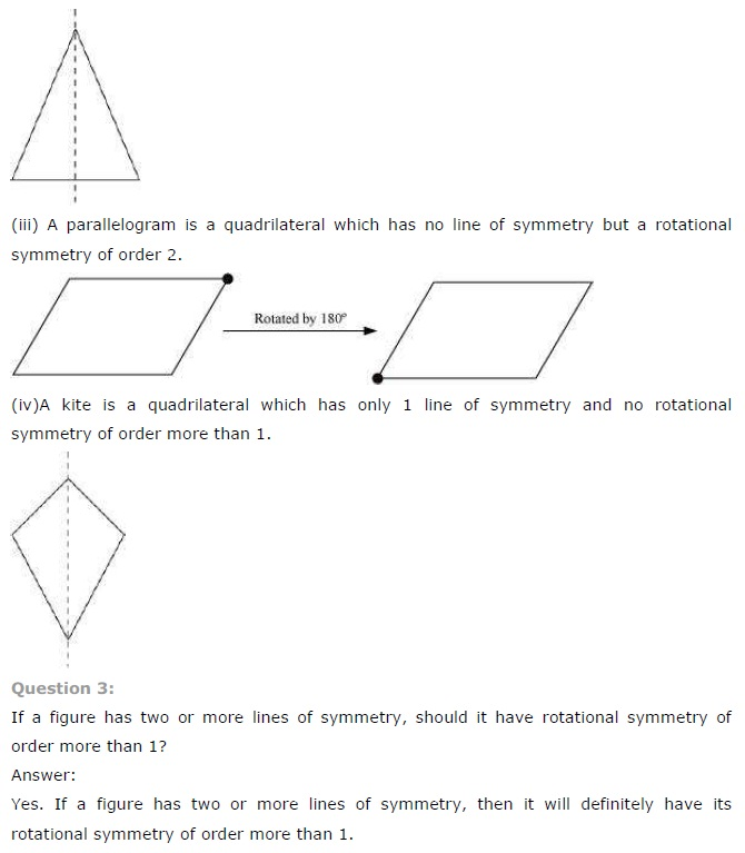 NCERT Solutions for Class 7 Maths Chapter 14 Symmetry Exercise 14.3