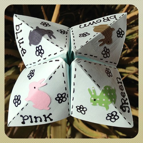 Bunny cootie catcher by Heather Says