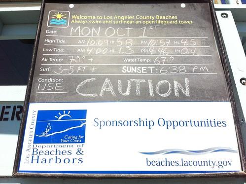 Venice Beach Weather Report 10-1-12