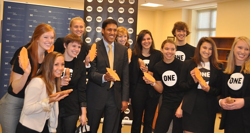 Raj Shah meets with ONE students