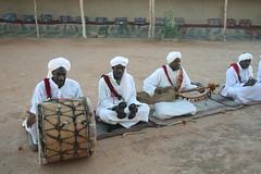 Gnawa musicians in Khamlia village Morocco