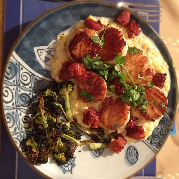 ... Seared scallops, chorizo and sweet corn succotash | Flickr - Photo