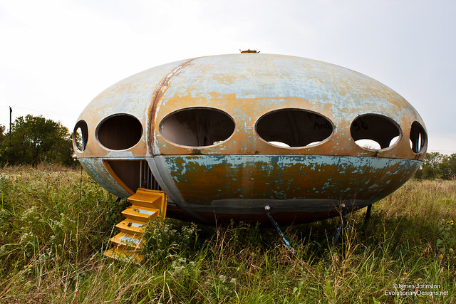Abandoned Flying Saucer House Found in Royce City Texas