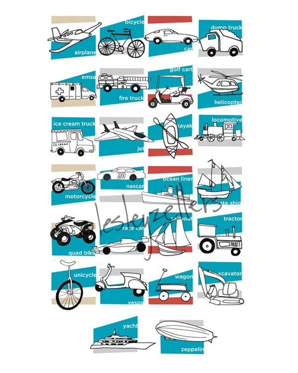 TransportationAlphabet Print
