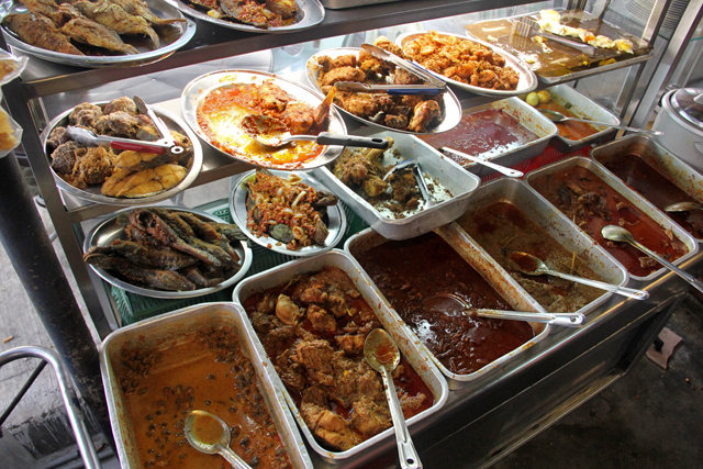 Attractive nasi lemak self service buffet