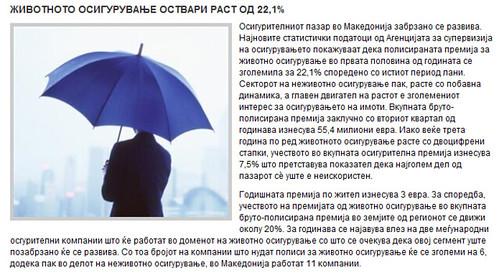 Животното Осигурување Оствари Раст од 22,1%