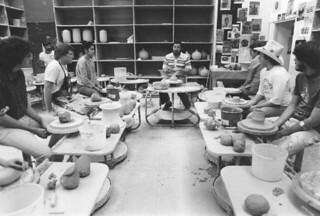Ceramics class with Professor Norm Hines in 1979