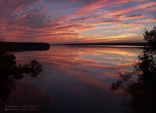 pink blue sunset panorama orange fall water jordanlake lakenc imaginefotocom