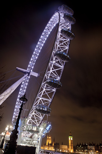 London Eye and Westminster at Night