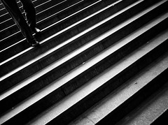 [Free Images] People, Body Parts - Feet, Stairway, Black and White ID:201210141600