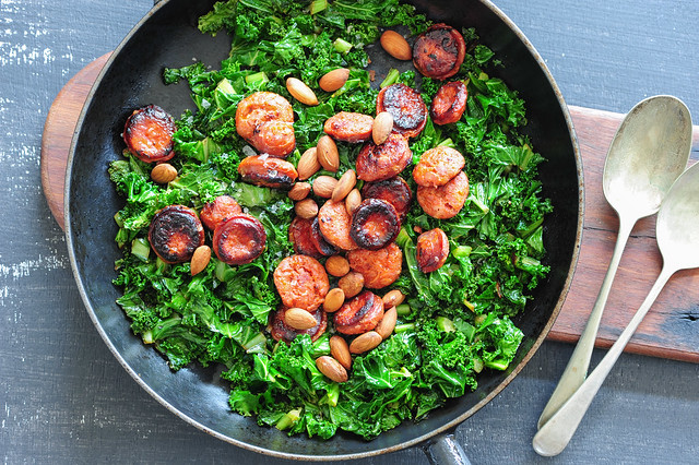 chorizo with kale-2