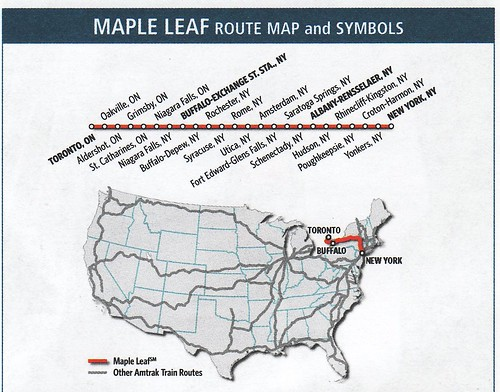 Amtrak Maple Leaf 2011 Map