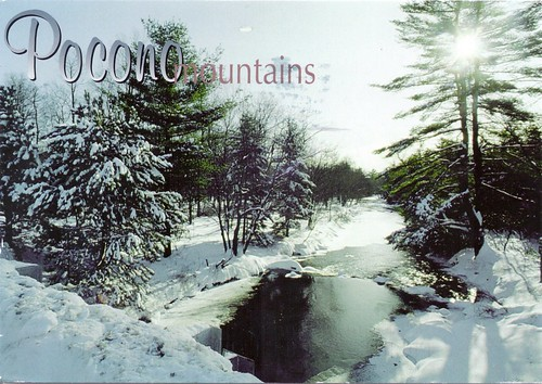 Snow View of Pocono Mountains