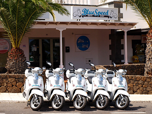 Blue Speed Scooters, Costa Teguise, Lanzarote