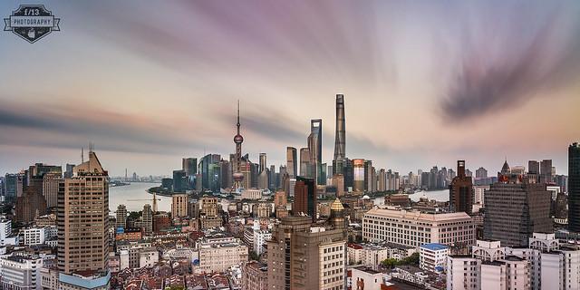 Shanghai Bund From Suzhou River 04B - 31-Jul-2016
