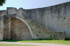Escalier donnant accès aux remparts du château de Gisors